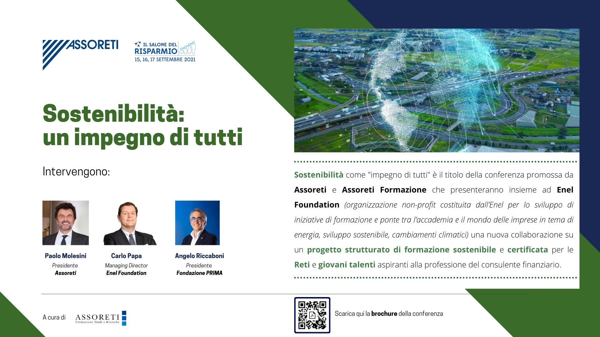 CONFERENZA – Sostenibilità: un impegno di tutti – 15 settembre 2021